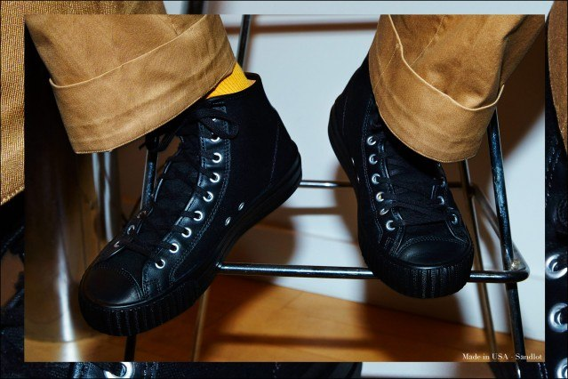"""Close-up shot of Made in USA sneaker """"Sandlot"""" from PF Flyers, photographed by Alexander Thompson for Ponyboy magazine."""