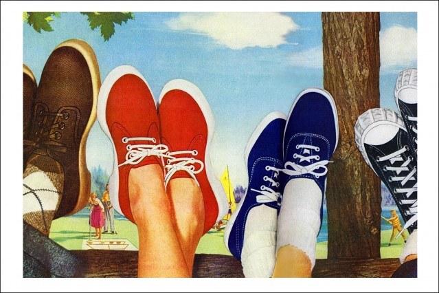Vintage PF Flyers advertisements from the 50s, Ponyboy magazine.