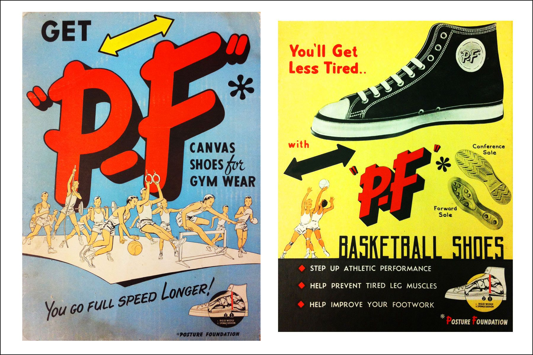 Vintage PF Flyers ads. Ponyboy magazine NY.