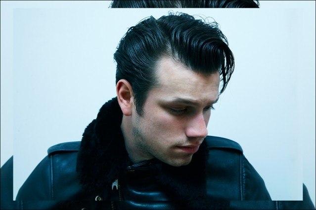 Ben Heymann photographed in a Schott NYC leather jacket for Ponyboy magazine by Alexander Thompson.