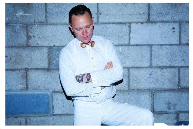 Australian musician C.W. Stoneking photographed at Rough Trade by Alexander Thompson for Ponyboy magazine.
