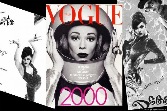 Lady Miss Kier from Deee-Lite photographed by Steven Meisel for Italian Vogue cover, wearing a Maria Ayala custom made ring. Ponyboy magazine.