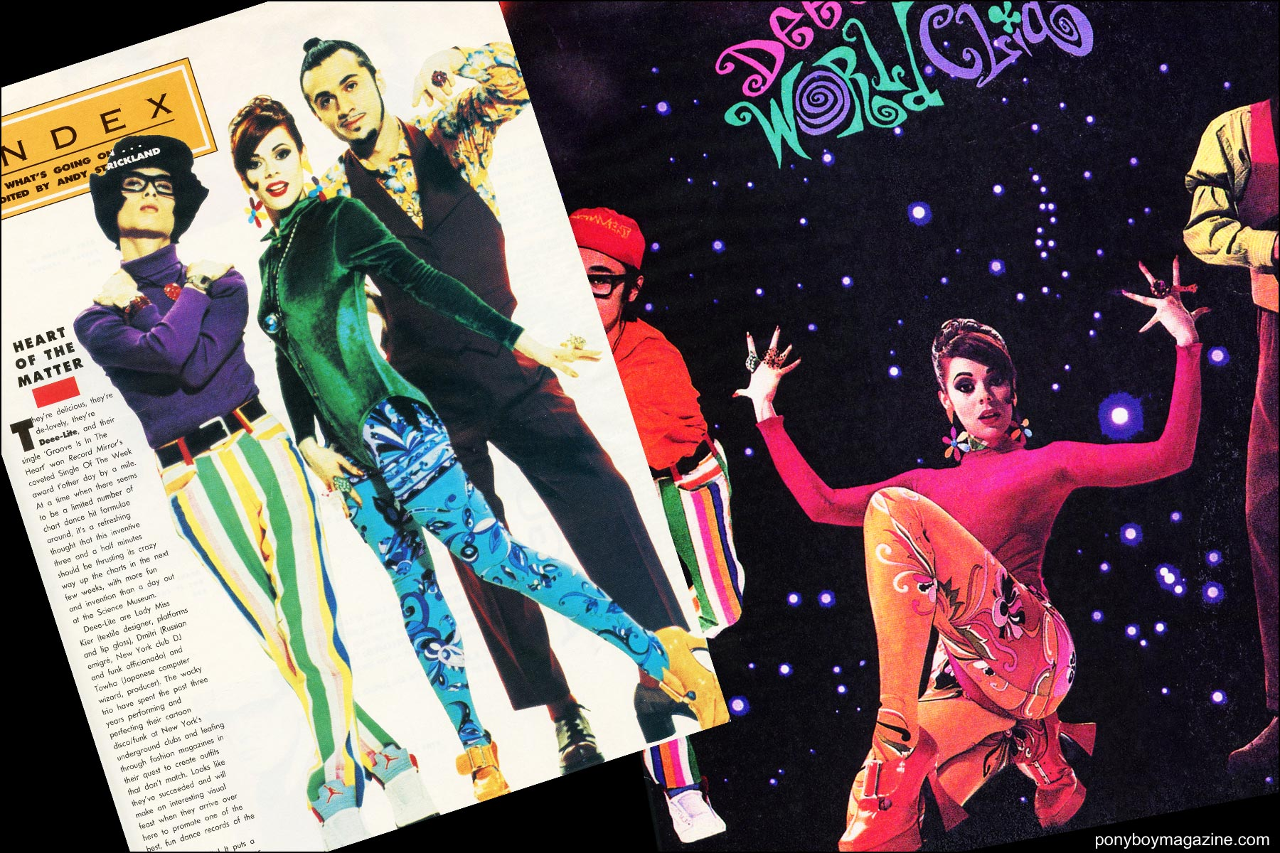 Deee-lite wearing Maria Ayala jewelry for their first album release. Ponyboy magazine NY.