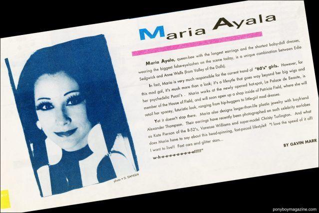 Tearsheet of Maria Ayala from Fad Magazine. Ponyboy magazine.