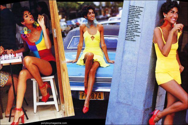 Maria Ayala plastic jewelry featured on the pages of Spanish Vogue. Ponyboy magazine.