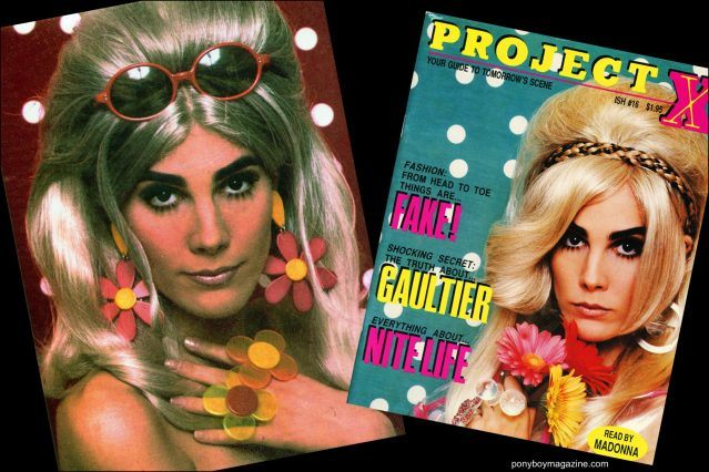 The cover of Project X magazine featuring Maria Ayala jewelry. Ponyboy magazine.