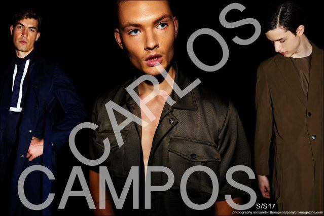 Models Jason Anthony and William Los for Carlos Campos Spring/Summer 2017 menswear collection. Photographed by Alexander Thompson for Ponyboy magazine.