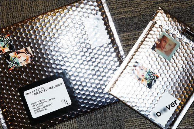Metallic envelopes photographed backstage at the Devon Halfnight Leflufy Spring/Summer 2017 menswear show. Photography by Alexander Thompson for Ponyboy magazine New York.