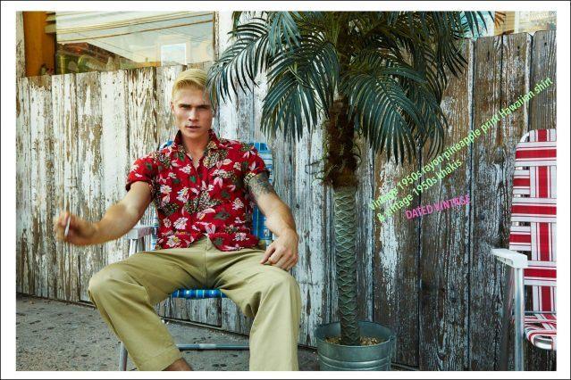 "Model Jake Filling, from New York Model Management, photographed by Alexander Thompson for Ponyboy magazine menswear editorial, ""Rockin Rockaways""."