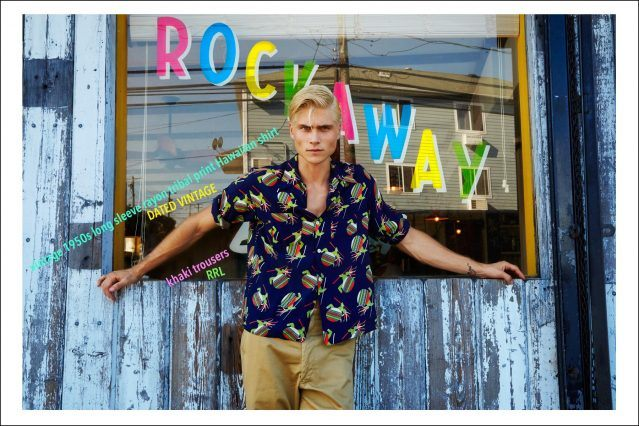Male model Jake Filling photographed in the Rockaways for a vintage menswear editorial. Photography by Alexander Thompson for Ponyboy magazine.