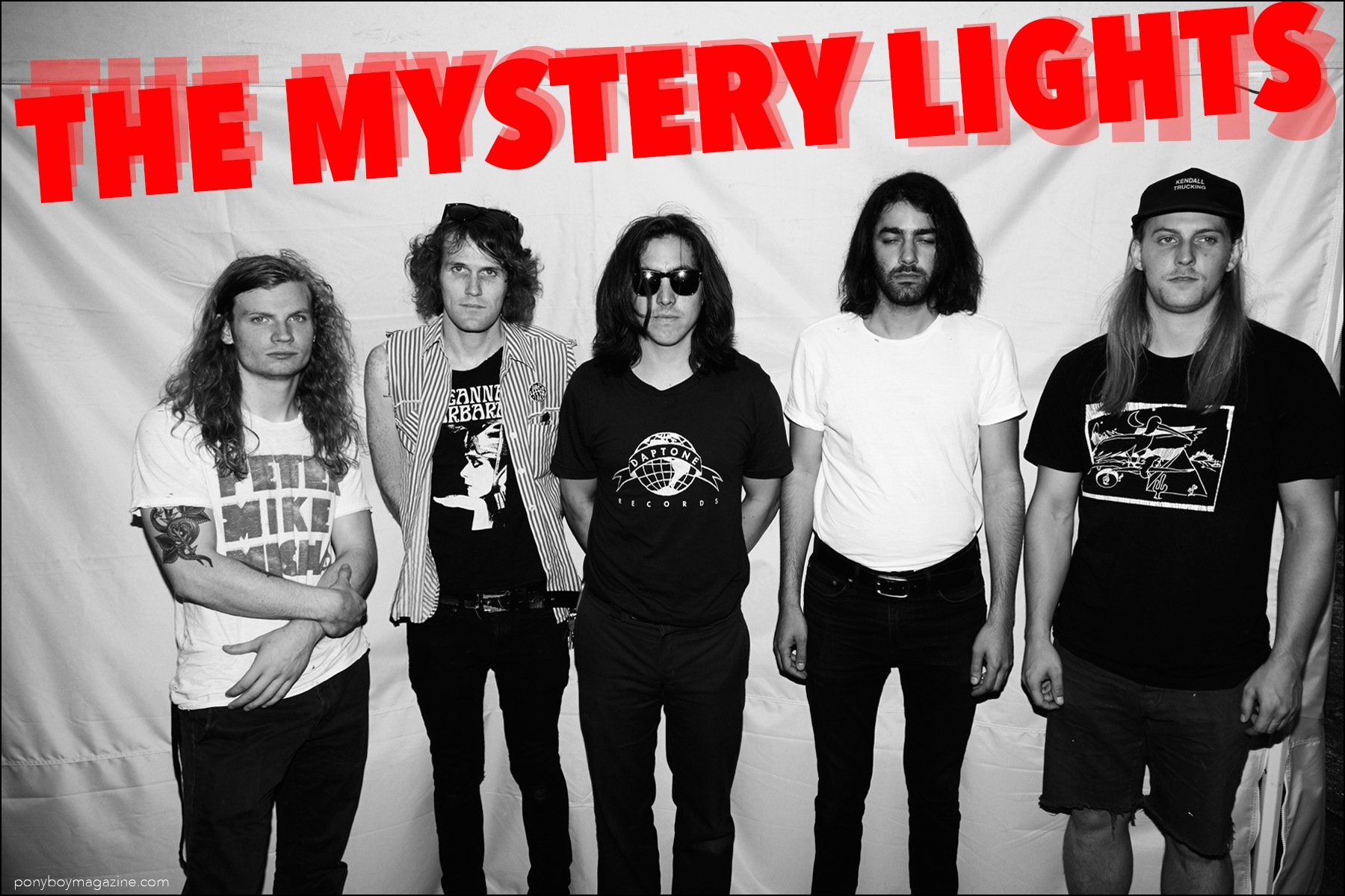 New York band The Mystery Lights. Photographed for Ponyboy magazine by Alexander Thompson.