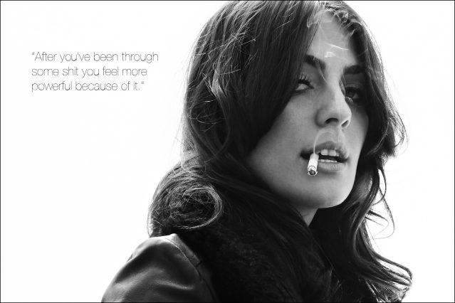New York City musician Breanna Barbara smokes a cigarette for Ponyboy magazine photographer Alexander Thompson.