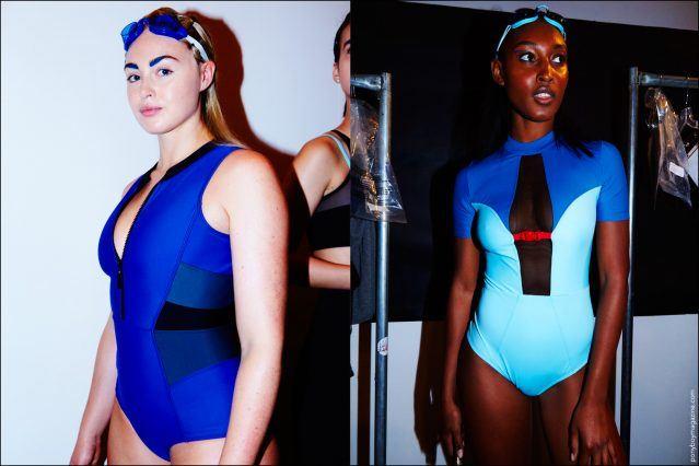 Models Iskra Lawrence & Ja'Veonna Gordon photographed backstage by Alexander Thompson for Ponyboy magazine, at Chromat S/S17.
