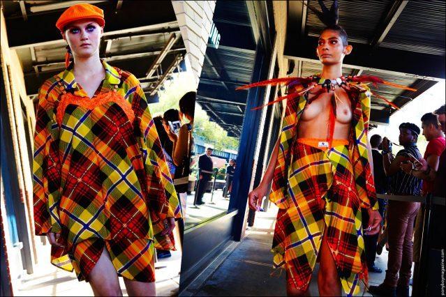 Models walk the sidewalk for Gypsy Sport Spring/Summer 2017. Photography by Alexander Thompson for Ponyboy magazine.