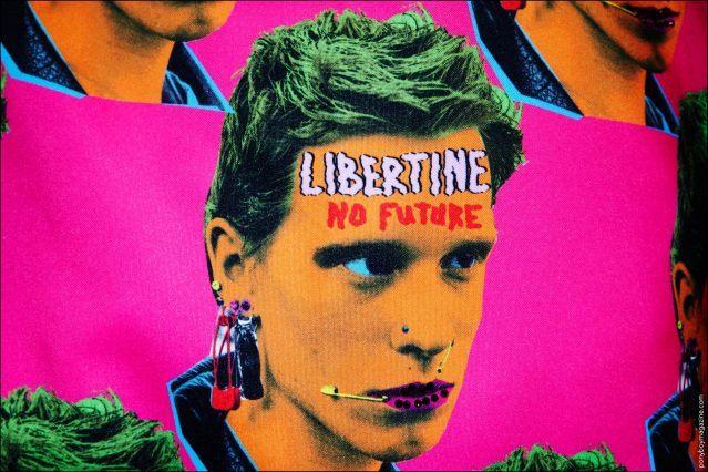 "Libertine Spring/Summer 2017 ""No Future""punk print. Photographed backstage by Alexander Thompson for Ponyboy magazine NY."