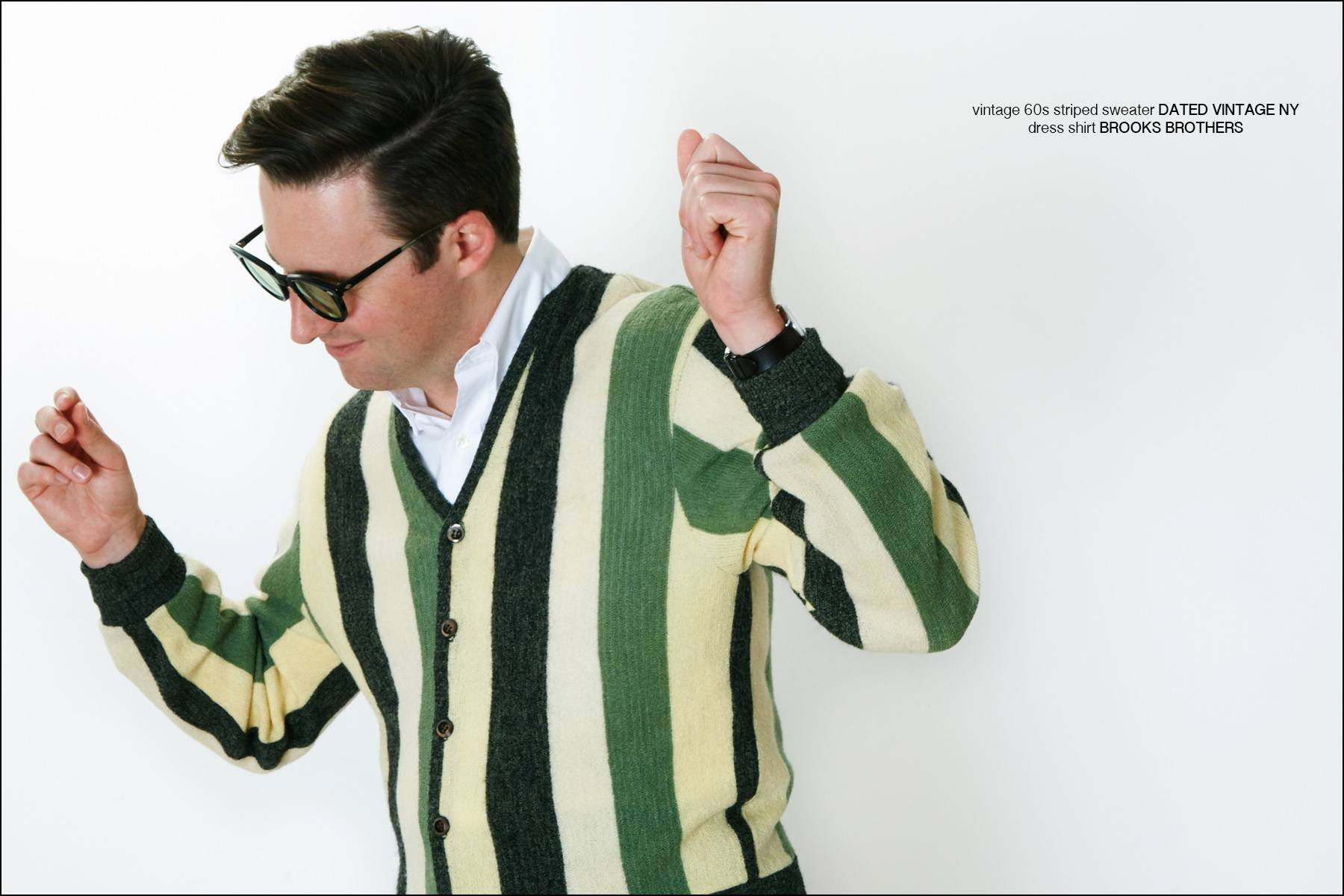Stylish musician Nick Waterhouse photographed by Alexander Thompson, with styling by Antonio Abrego for Dated Vintage. Ponyboy magazine New York.