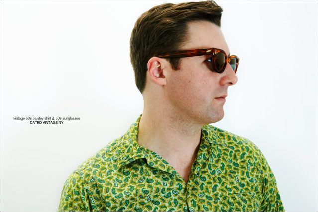 Nick Waterhouse photographed in clothing from Dated Vintage NY. Photography by Alexander Thompson for Ponyboy magazine.