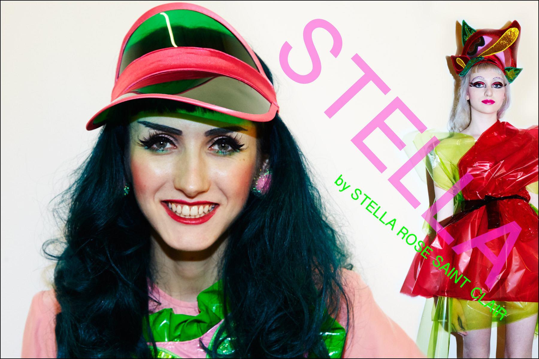Stella. Hats by Stella Rose Saint Clair. Photography by Alexander Thompson for Ponyboy magazine NY.
