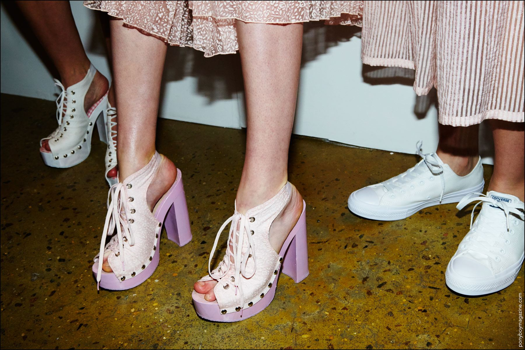 Shoes backstage at the Adam Selman S/S17 show in New York City. Photography by Alexander Thompson for Ponyboy magazine.