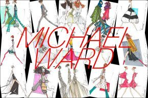 Michael Ward fashion illustrations. Ponyboy magazine.