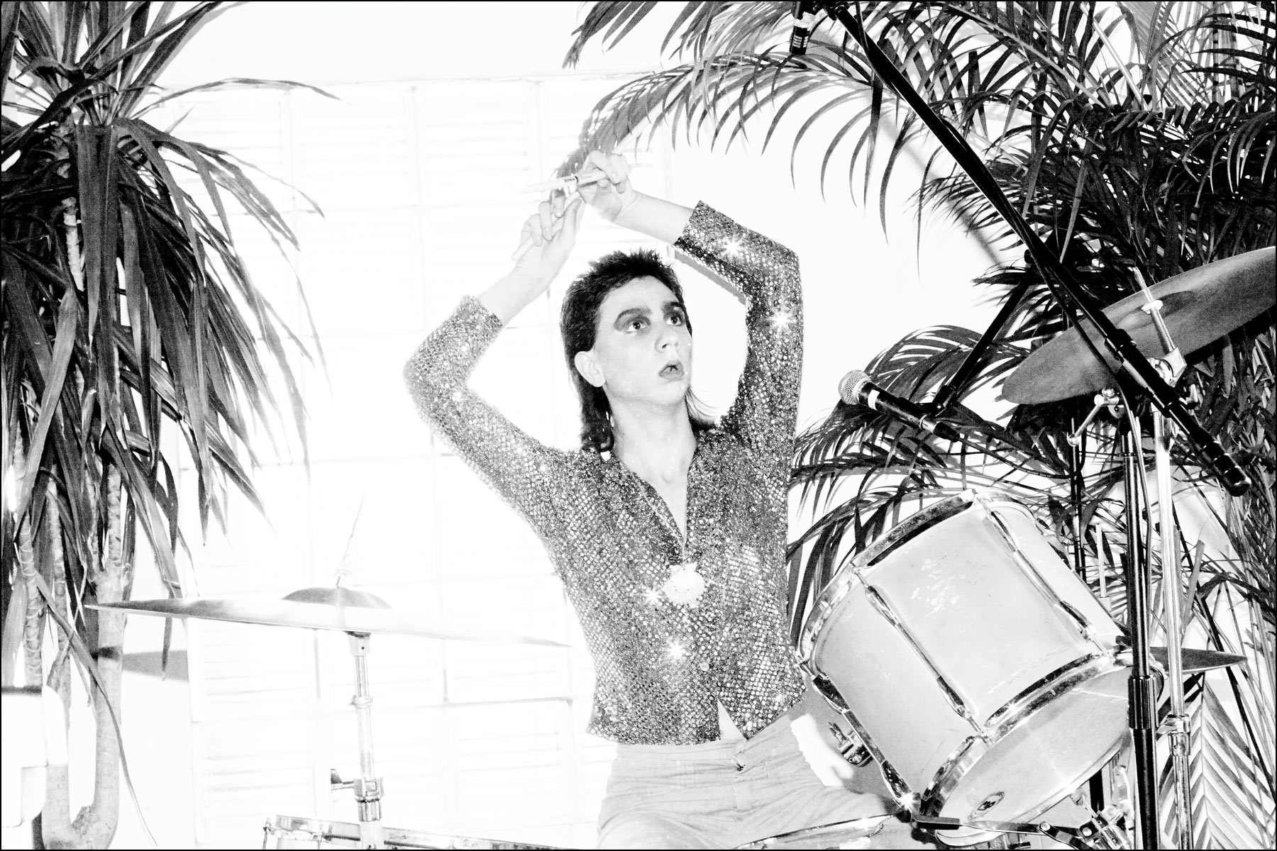 Brian D'Addario on drums, from New York City band The Lemon Twigs. Photographed by Alexander Thompson for Ponyboy magazine New York.