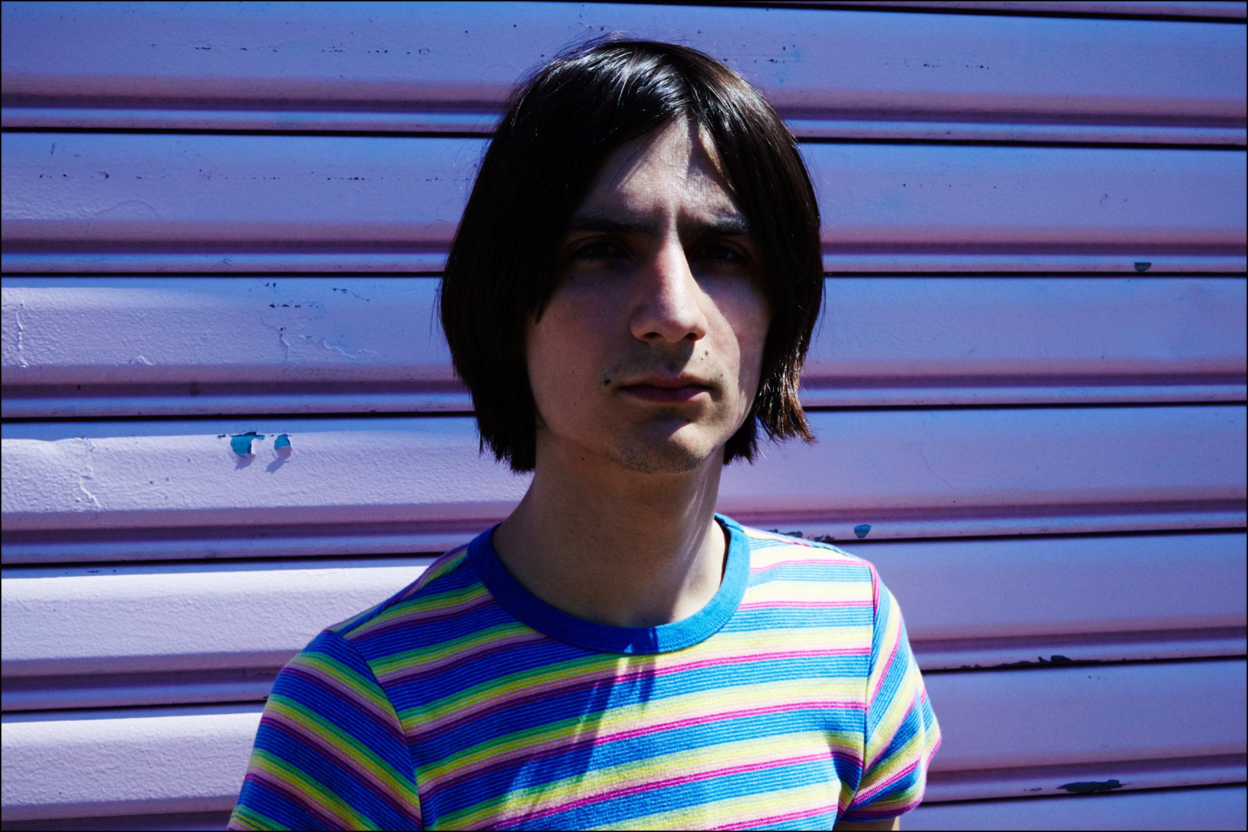 A portrait of Lemon Twigs musician Michael D'Addario by Alexander Thompson, for Ponyboy magazine New York.
