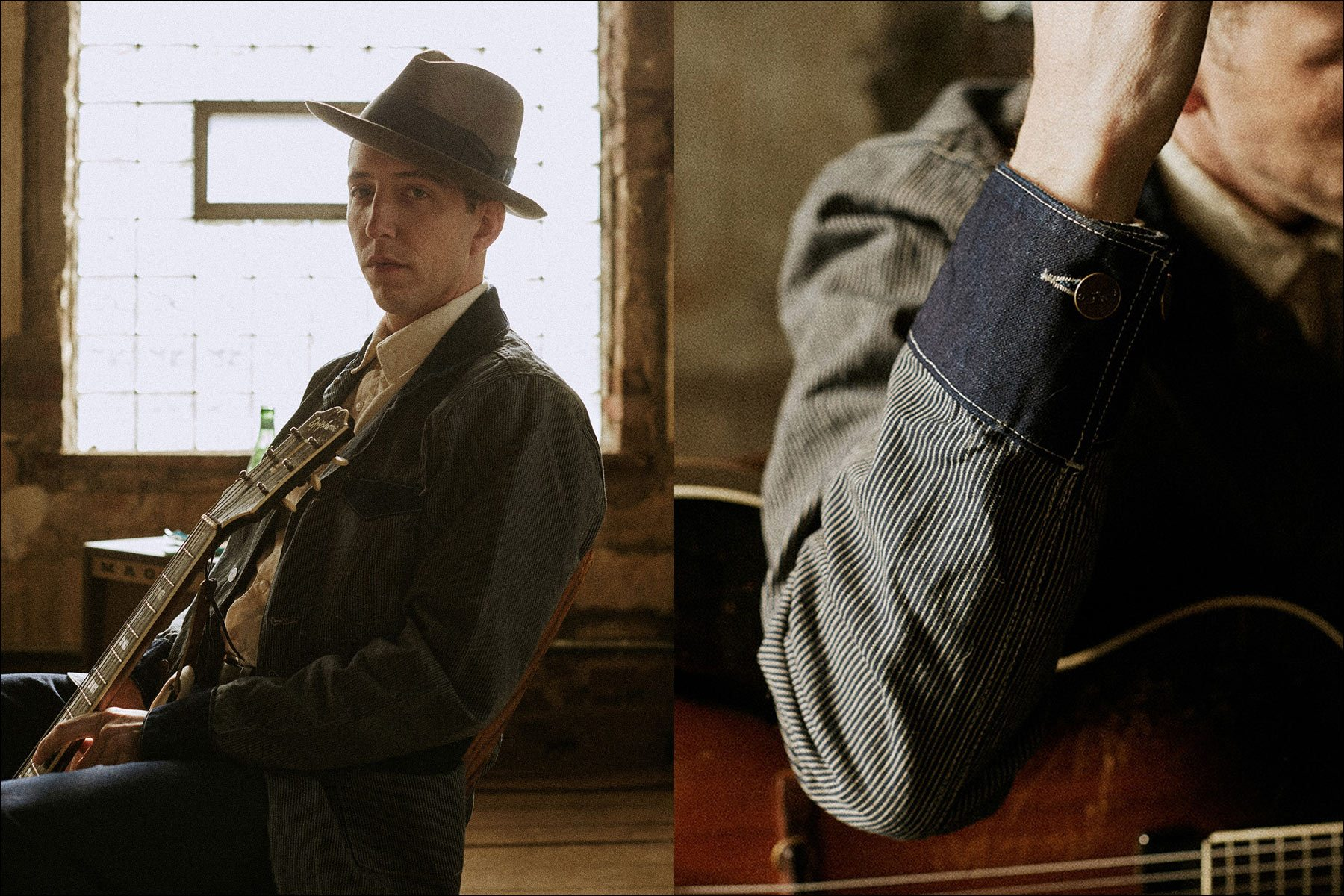 Pokey LaFarge photographed by Noah Sahady for his clothing collaboration with Knickerbocker Mfg. Co. Ponyboy magazine NY.