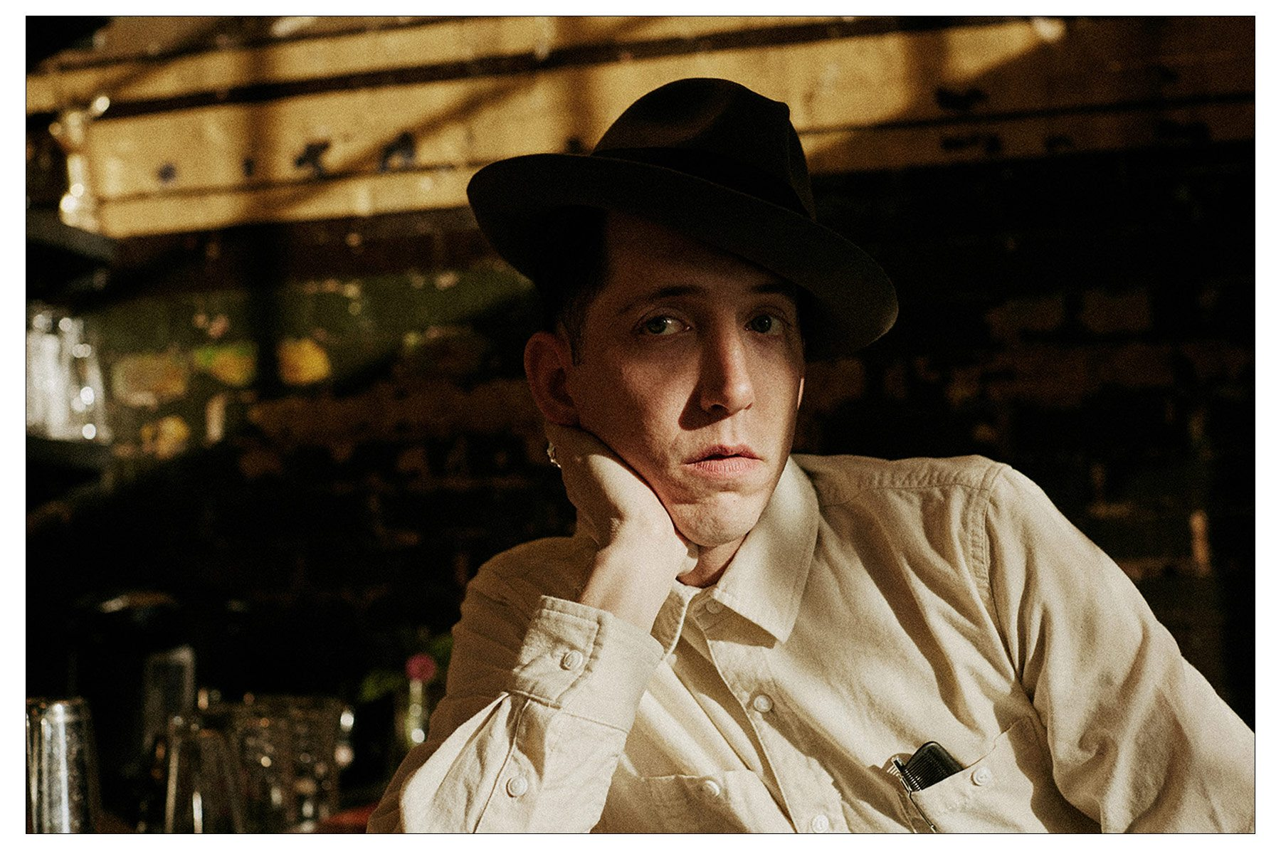 Pokey LaFarge photographed by Noah Sahady in his clothing collaboration with Knickerbocker Mfg. Co. Ponyboy magazine NY.