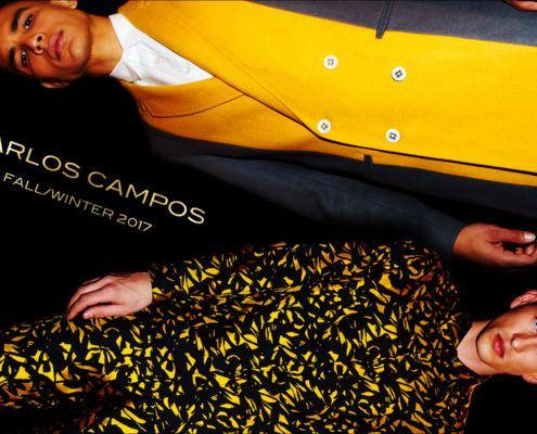 Models Colin Alexander & Jannik Scharmweber for Carlos Campos Fall/Winter 2017. Photography by Alexander Thompson for Ponyboy magazine.