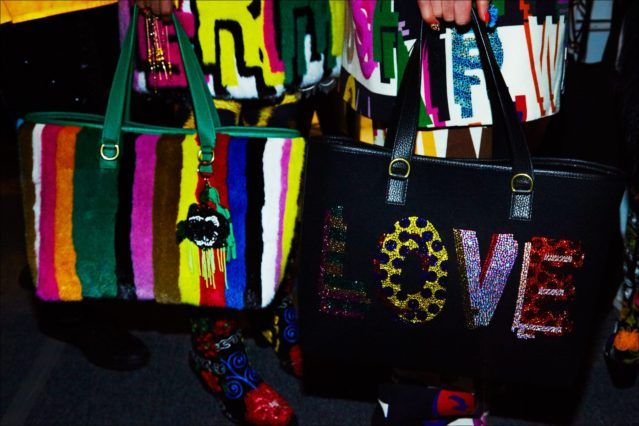 Libertine bags photographed backstage for Fall/Winter 2017. Photography by Alexander Thompson for Ponyboy magazine.