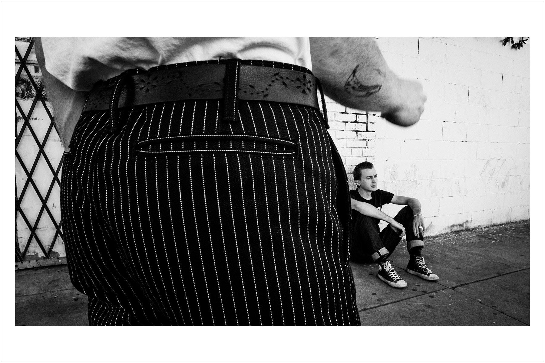 Detail shot of trousers by menswear line Thee Teen-Aged. Photography by Connor Wyse. Ponyboy magazine New York.