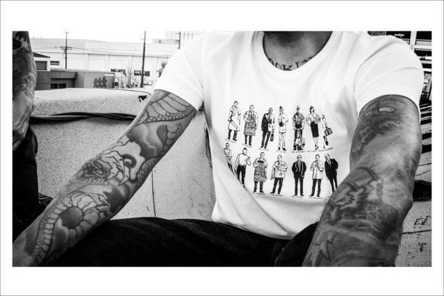 Detail of a printed t-shirt from Thee Teen-Aged menswear line. Photography by Connor Wyse. Ponyboy magazine.