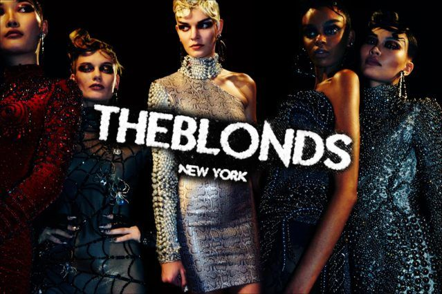 Models photographed in first looks, before The Blonds Fall 2017 womenswear show. Photography by Alexander Thompson for Ponyboy magazine.