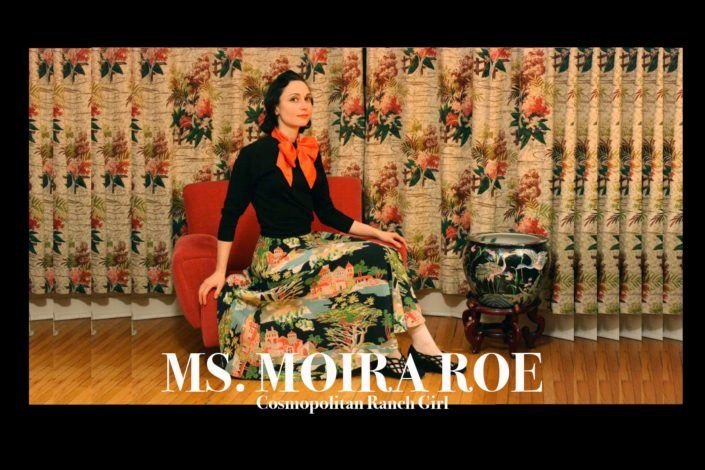 Ms. Moira Roe, cosmopolitan ranch girl. Ponyboy magazine.