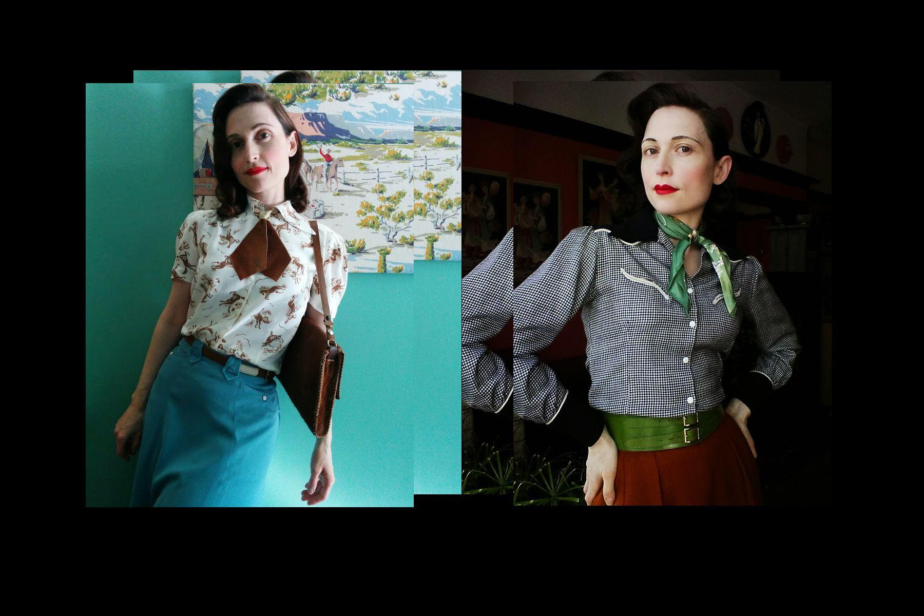 Moria Roe wears collectable vintage western wear. Ponyboy magazine New York.