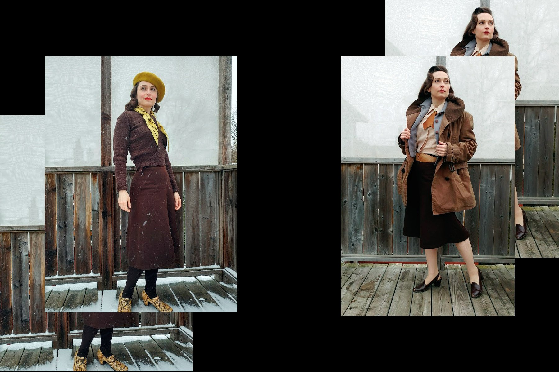 Ms. Moira Roe photographed in vintage outerwear. Ponyboy magazine New York.