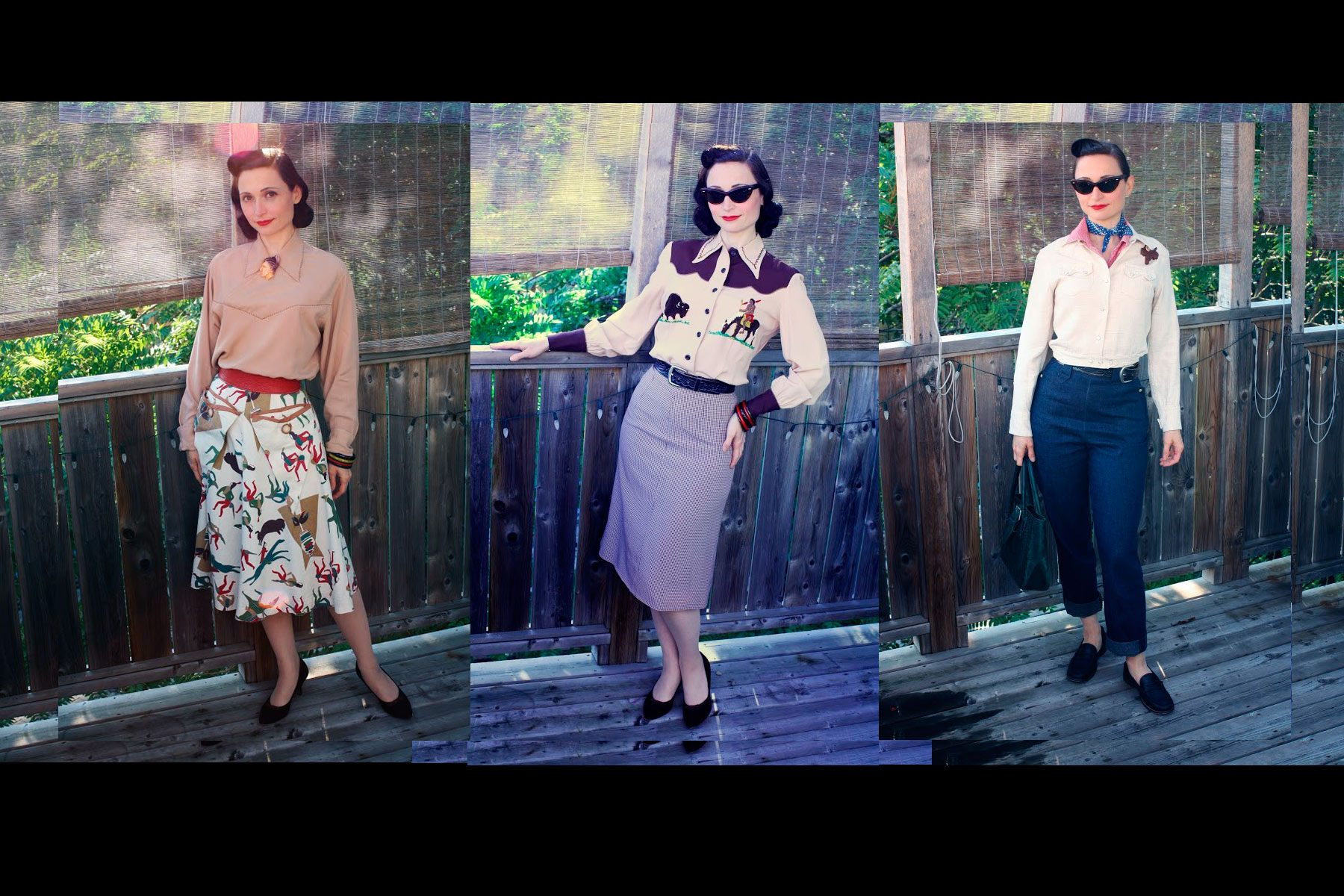 Outfits worn by vintage western wear collector Ms. Moira Roe, photographed at her home in Toronto. Ponyboy magazine NY.