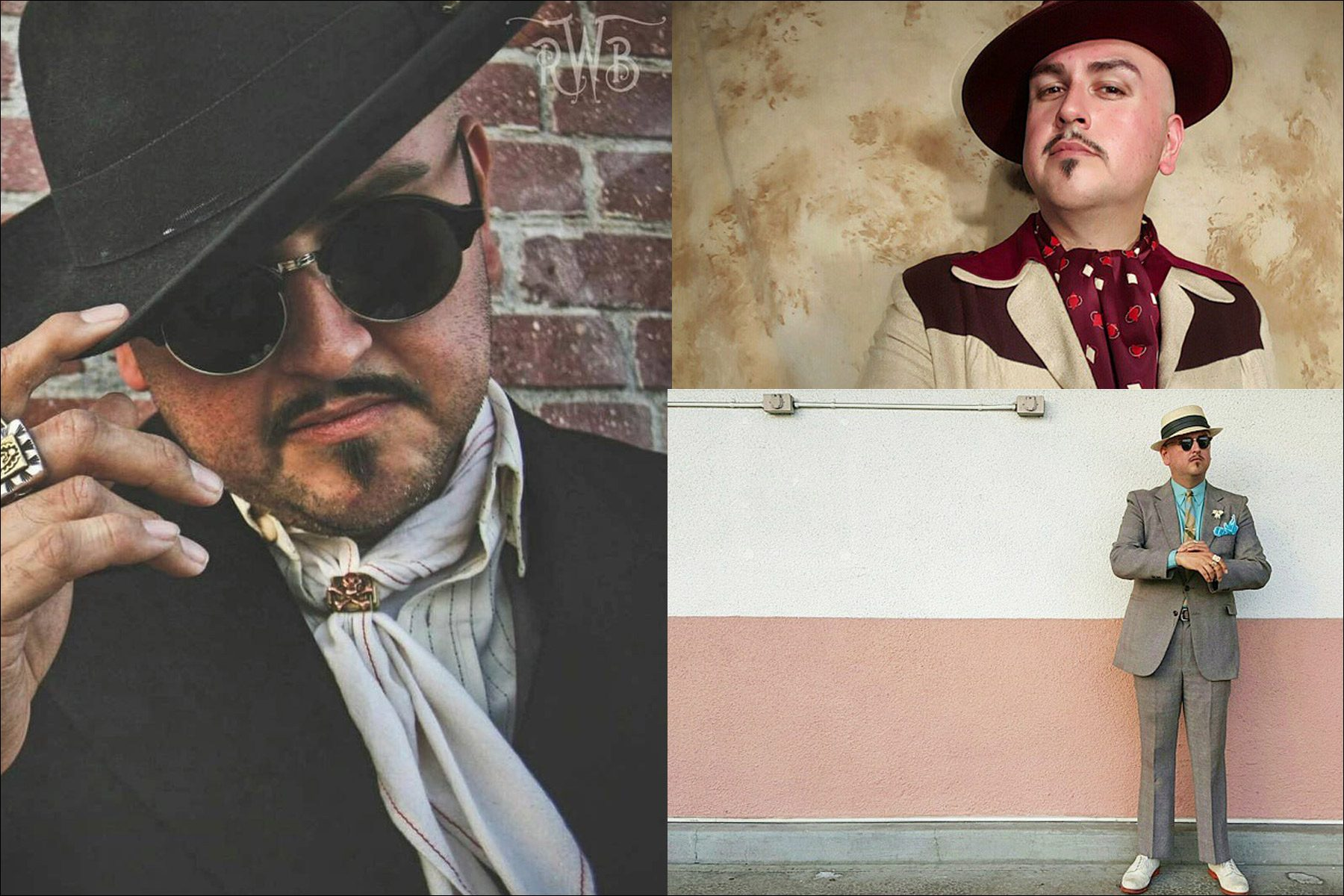 Stylish portraits of Barrio Dandy, vintage menswear stylist and showroom owner J.C. De Luna. Ponyboy magazine New York.