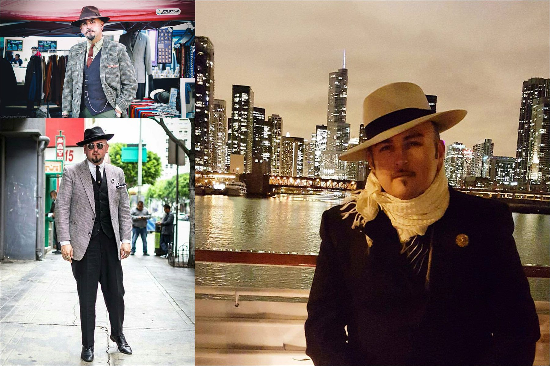 The Barrio Dandy, vintage menswear stylist J.C. De Luna. Ponyboy magazine NY.
