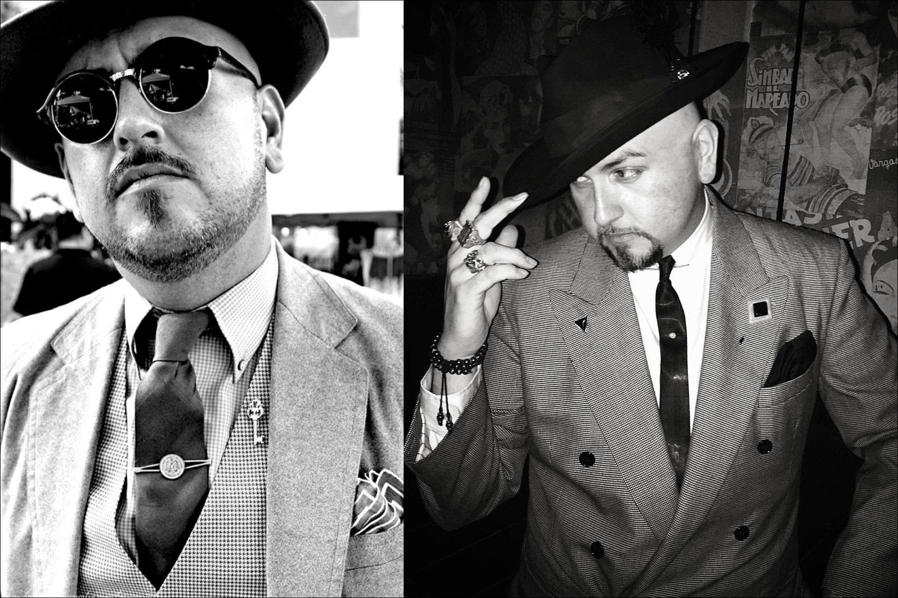 Black & white photos of Barrio Dandy, menswear stylist and showroom owner J.C. De Luna. Ponyboy magazine New York.
