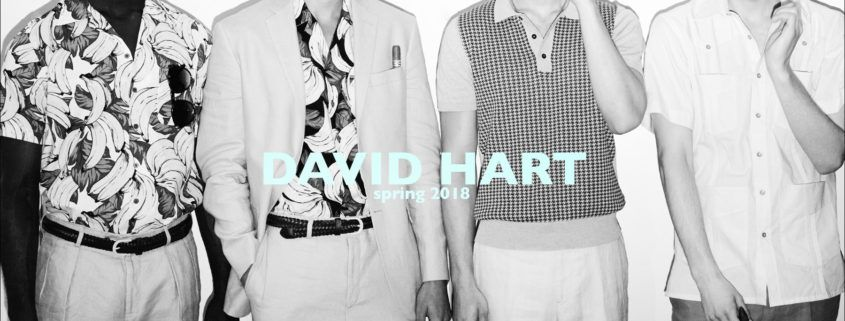David Hart Spring 2018 menswear collection. Photographed by Alexander Thompson for Ponyboy magazine.