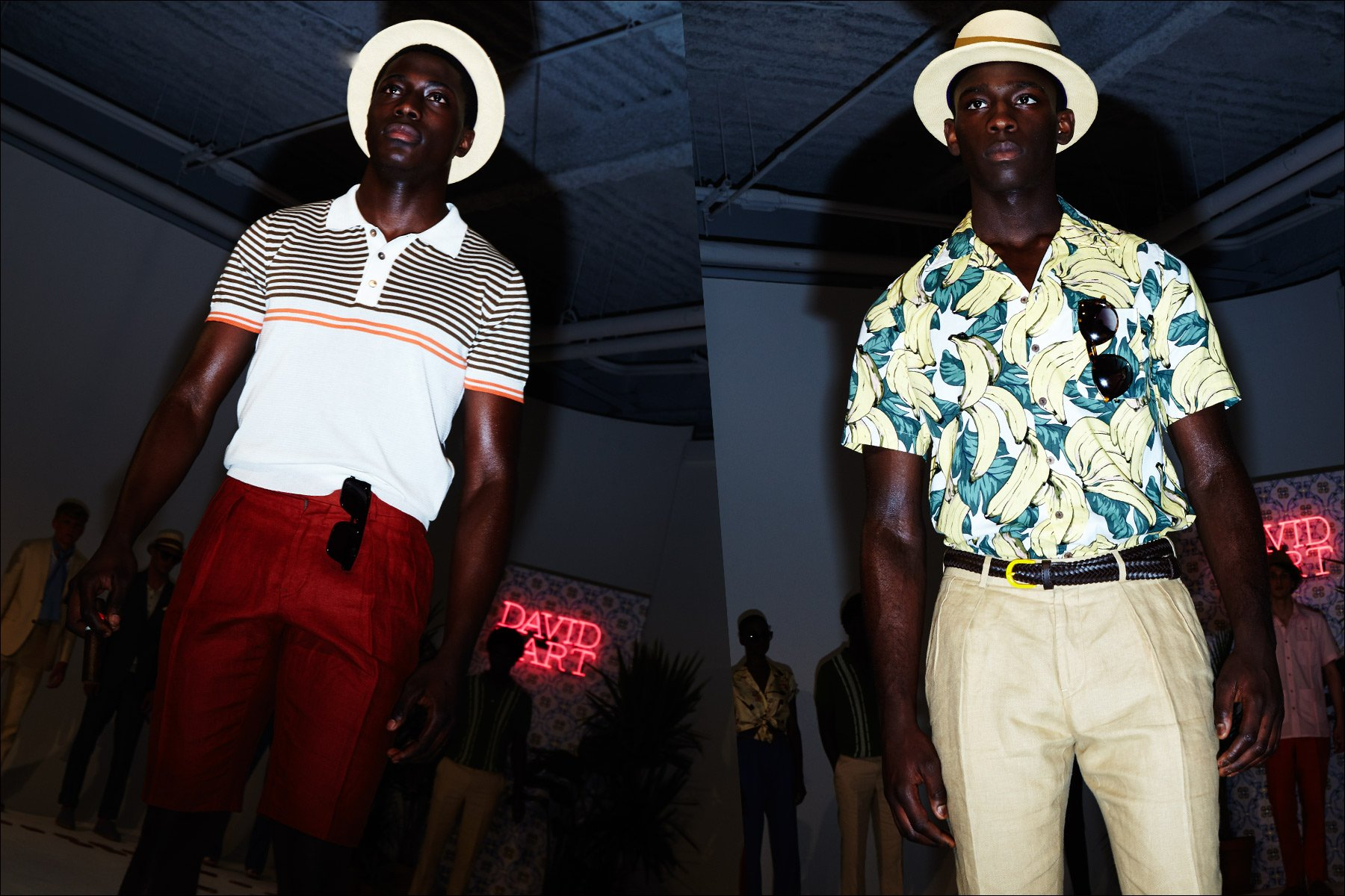 Spring 2018 Cuban inspired menswear on the runway for David Hart. Photographed by Alexander Thompson for Ponyboy magazine New York.