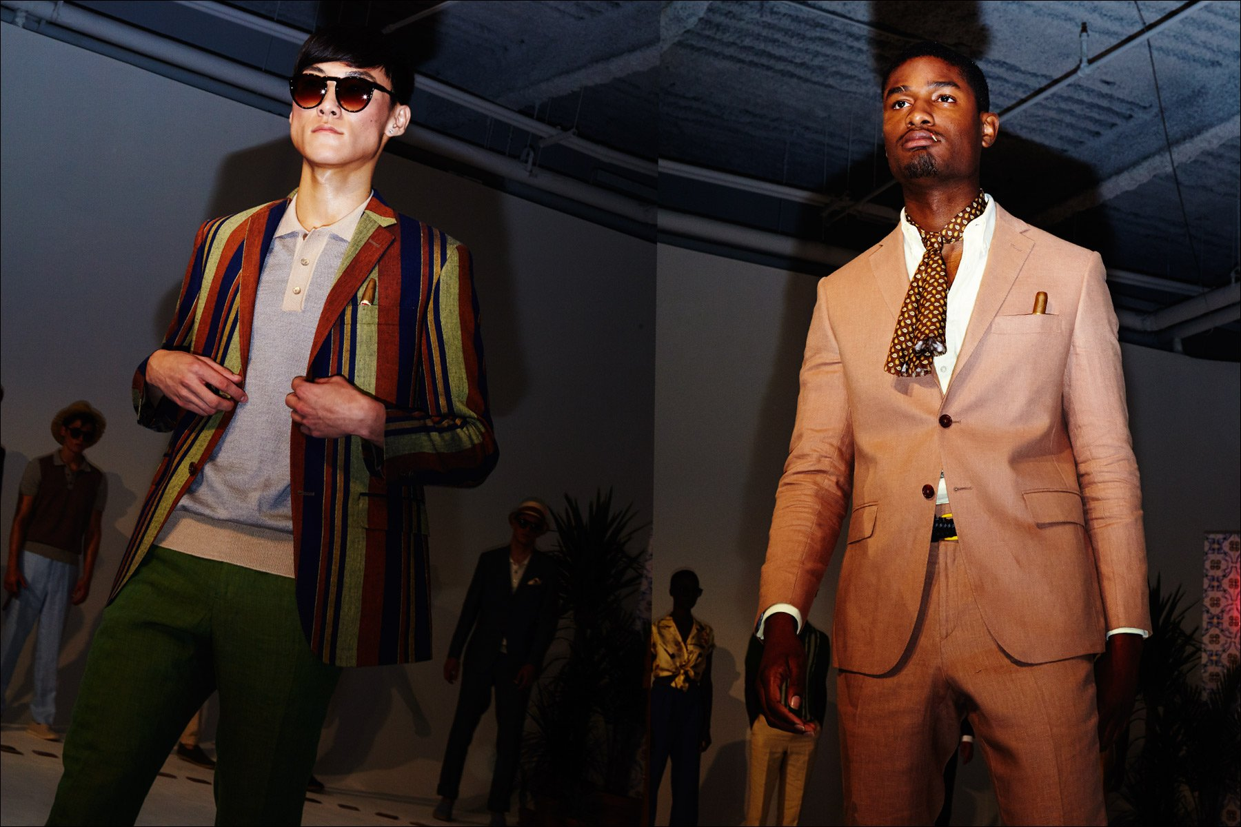 Spring 2018 Cuban inspired menswear looks on the runway by David Hart. Photography for Ponyboy magazine NY by Alexander Thompson.