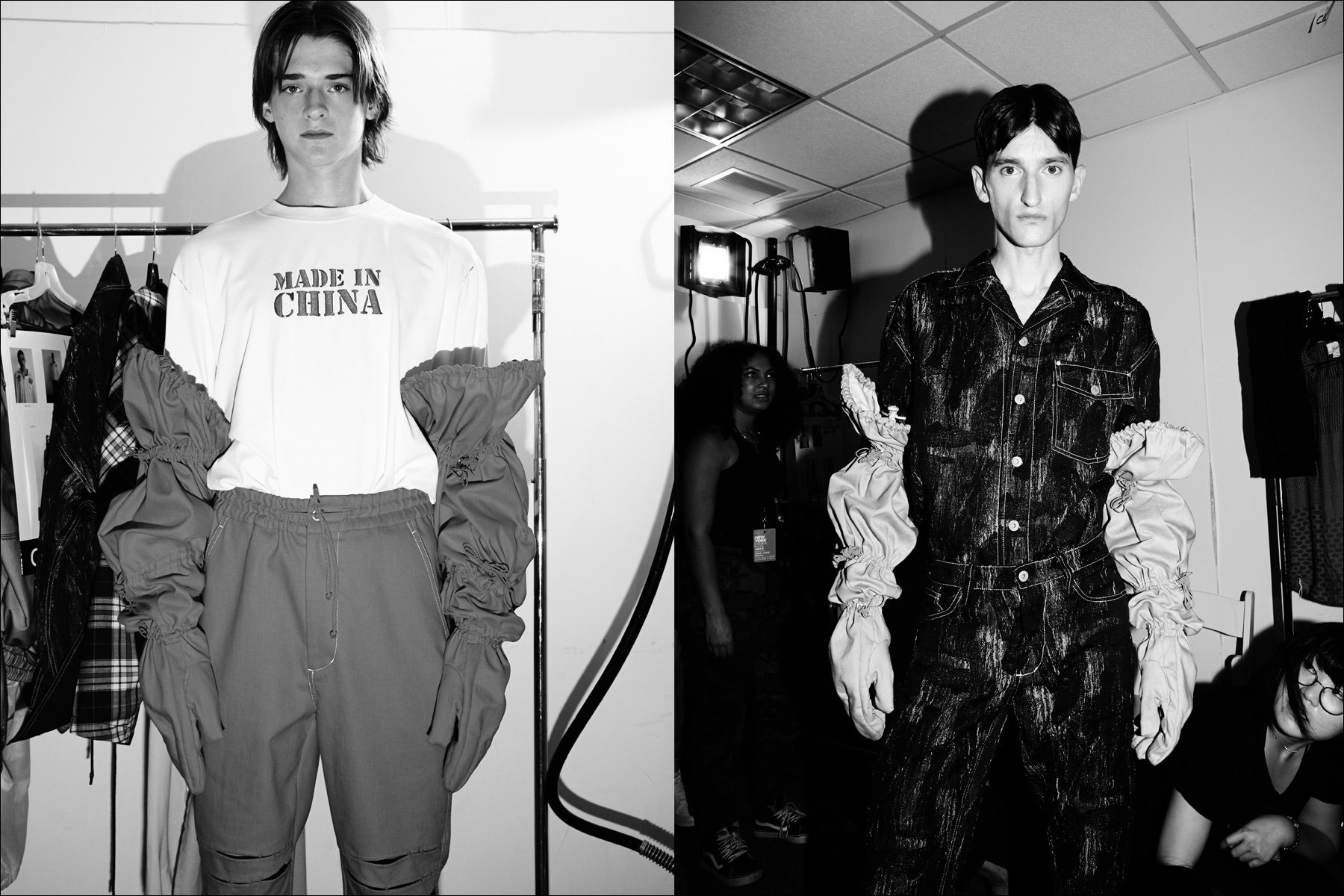 Backstage, Feng Chen Wang. S/S18. Photography by Alexander Thompson for Ponyboy magazine New York.