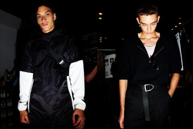 Models in black looks at the Matiere runway show for Spring/Summer 2018. Photographed by Alexander Thompson for Ponyboy magazine.