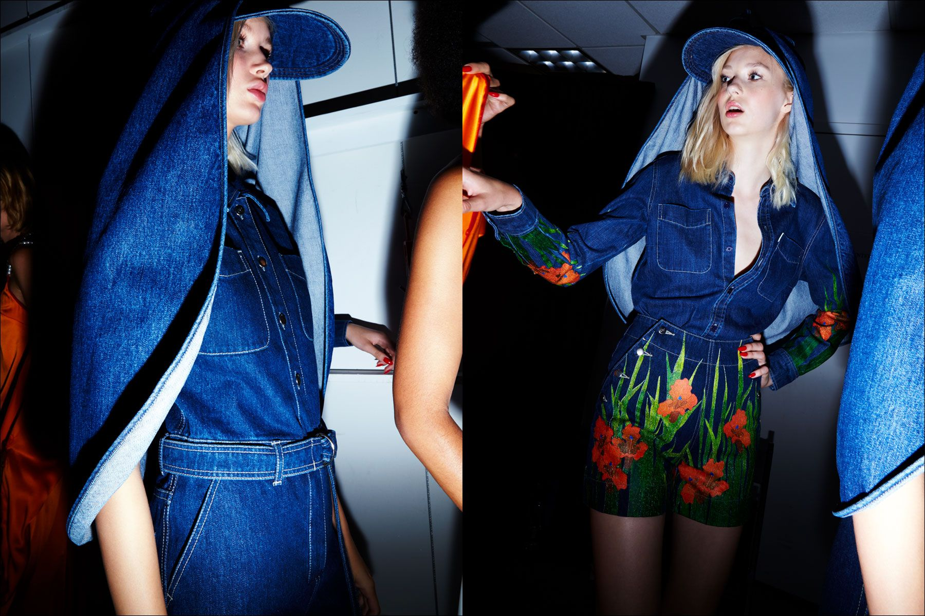 Models in denim looks by New York designer Adam Selman. Photography by Alexander Thompson for Ponyboy magazine NY.