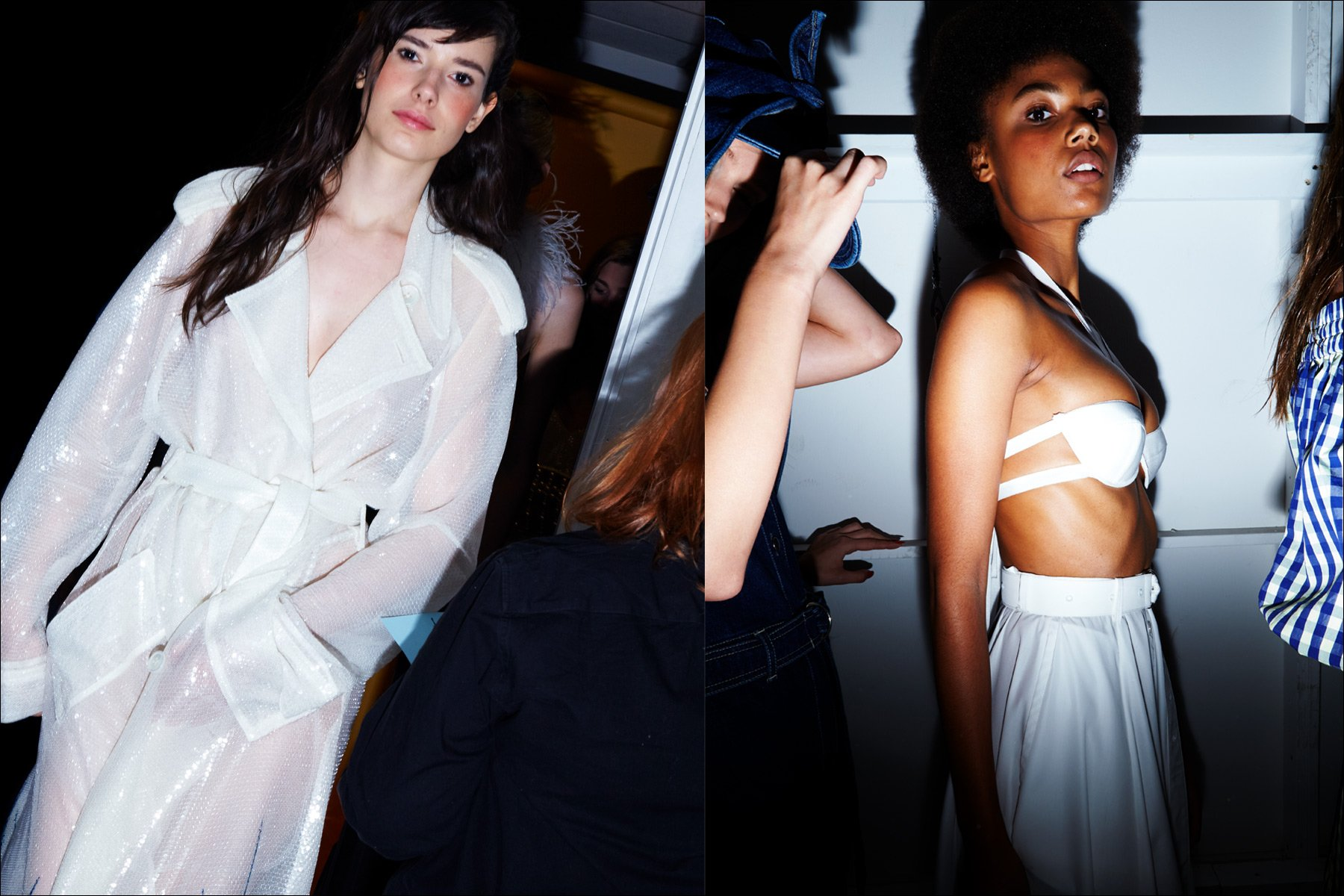 Model Isabella Ridolfi snapped backstage after the Adam Selman S/S18 show. Photography by Alexander Thompson for Ponyboy magazine New York.