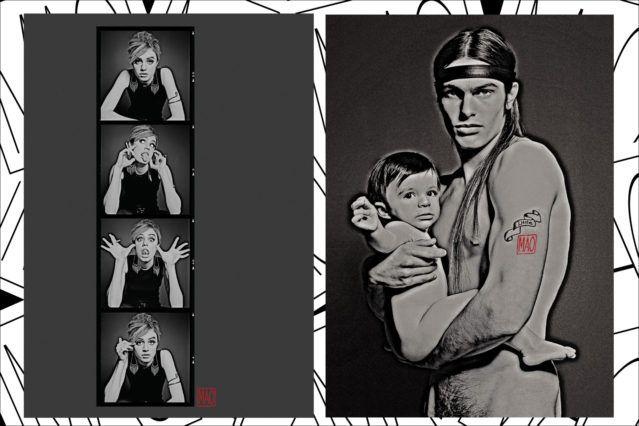 MAO PR ads of models dressed up like Edie Sedgwick and Joe Dallesandro. Ponyboy magazine.