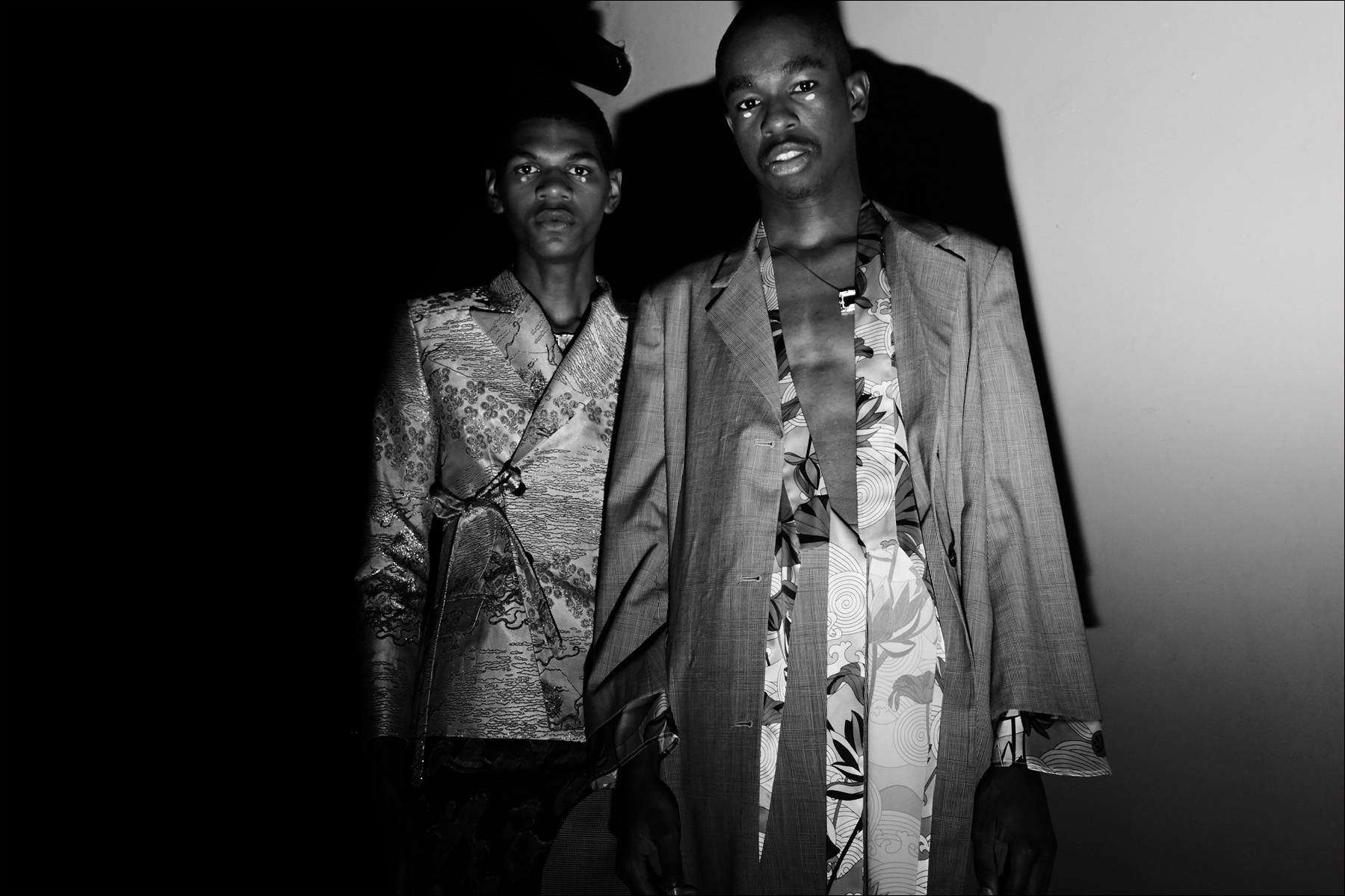 Two male models, backstage at Snow Xue Gao. Spring/Summer 2018. Ponyboy magazine New York.
