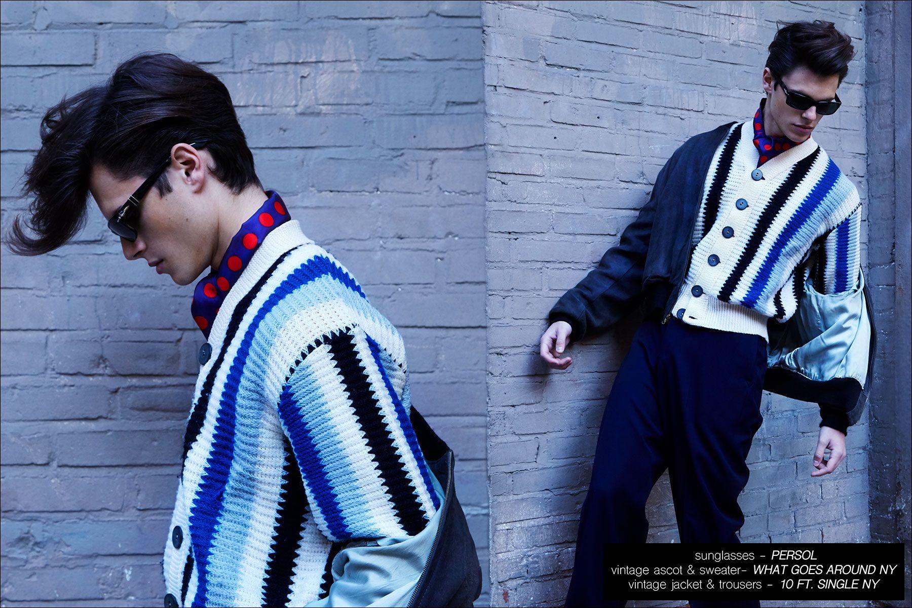 Male model Casey Jackson photographed by Alexander Thompson for Ponyboy magazine NY.